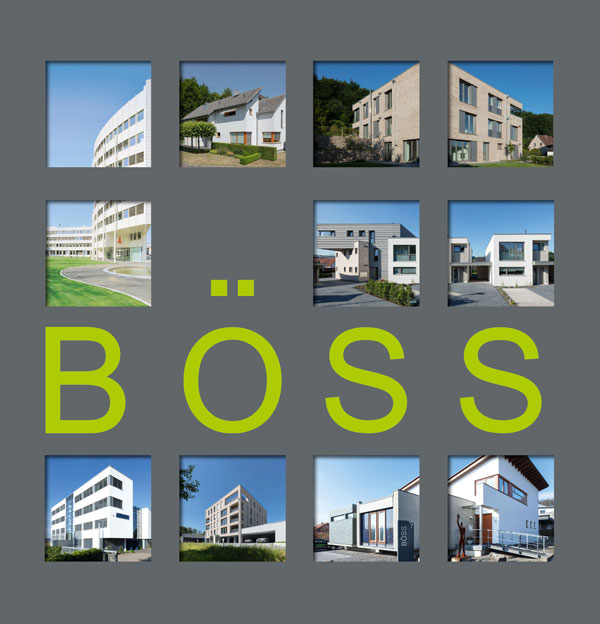 Titelseite der Imagebroschüre BÖSS Architekten GmbH in Bissendorf