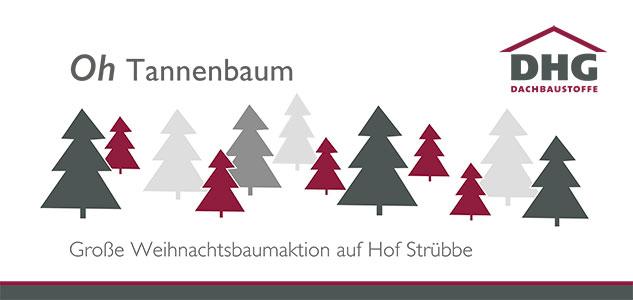 Weihnachtskarte der Firma DHG Dachbaustoffe