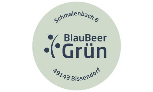 Etikette für den Blumenladen BlauBeerGrün