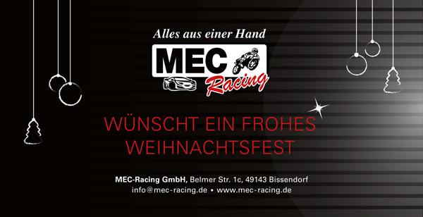 Weihnachtskarte der Firma MEC-Racing in Wulften