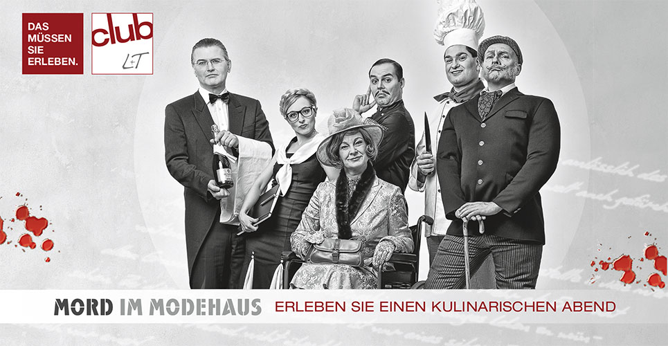 Einladungskarte des Modehauses L&T in Osnabrück