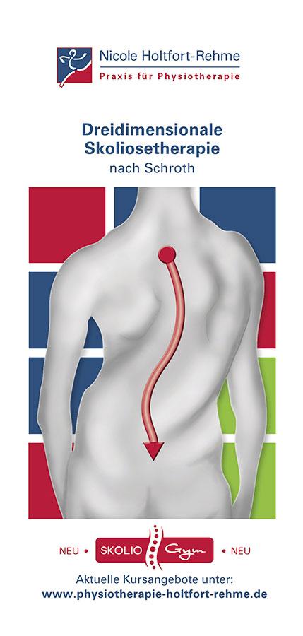 Flyer Dreidimensionale Skoliosetherapie der Praxis Nicole Holtfort-Rehme in Osnabrück