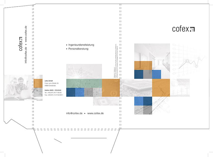 Präsentationsmappe der Firma cofex GmbH
