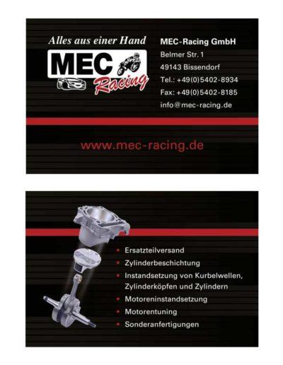 Visitenkarten – MEC-Racing
