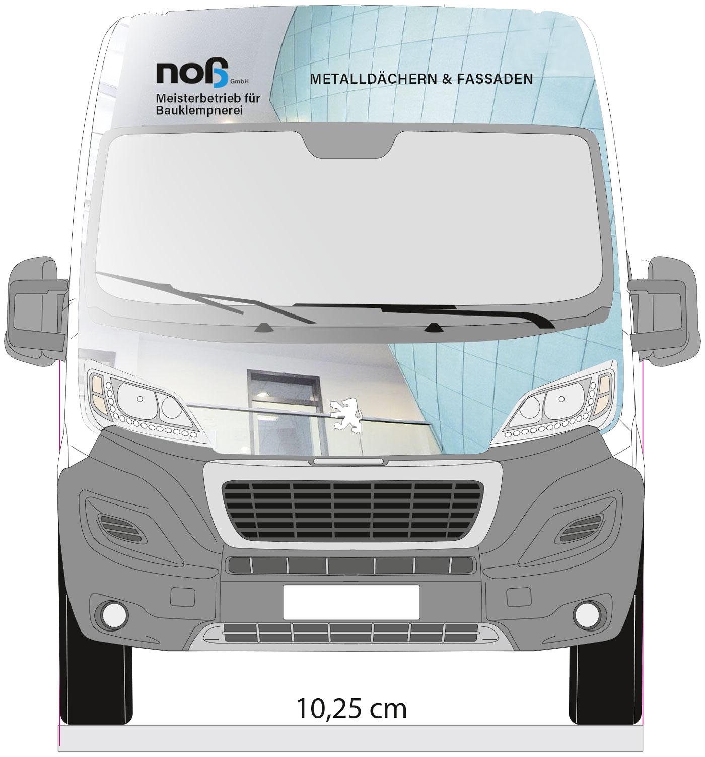 Entwurf einer Vollflächigen Transporter-Beschriftung der Firma Noß GmbH aus Voxtrup