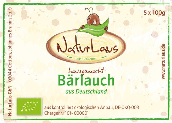 """Etiketten der Firma """"NaturLaus"""""""
