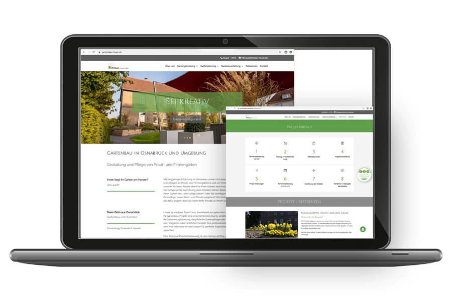 Webpräsenz von Heuer und das Grün – Ihr Gartenausstatter