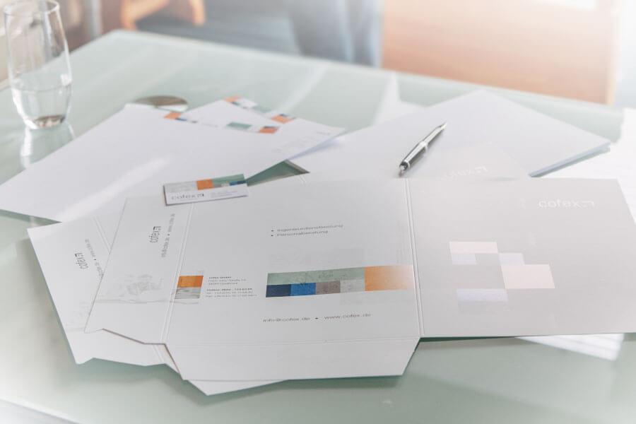 Corporate Design der Firma cofex GmbH aus Osnabrück