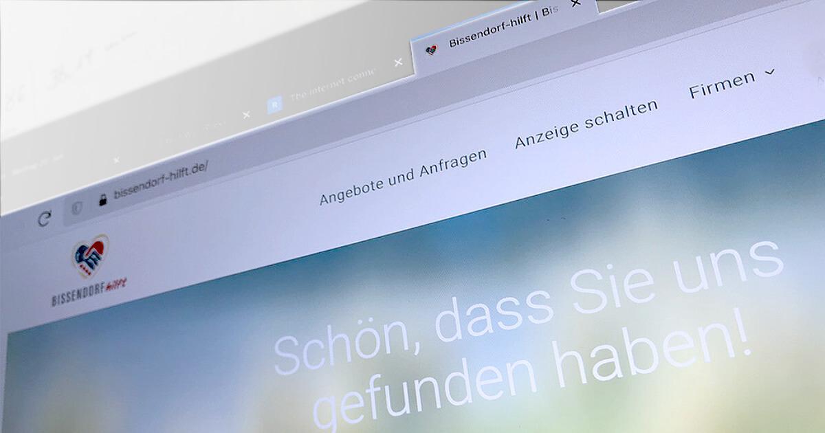 Die Webpräsenz von Bissendorf hilft