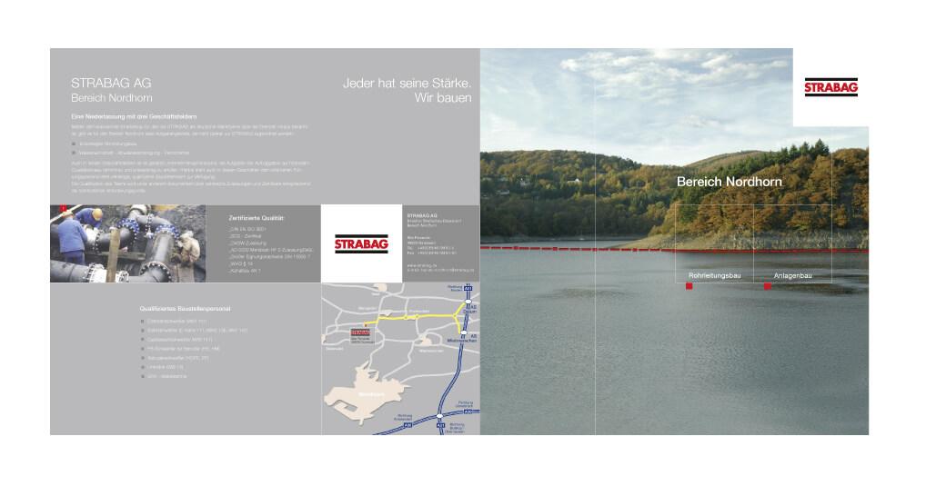 Imagebroschüre der Firma STRABAG