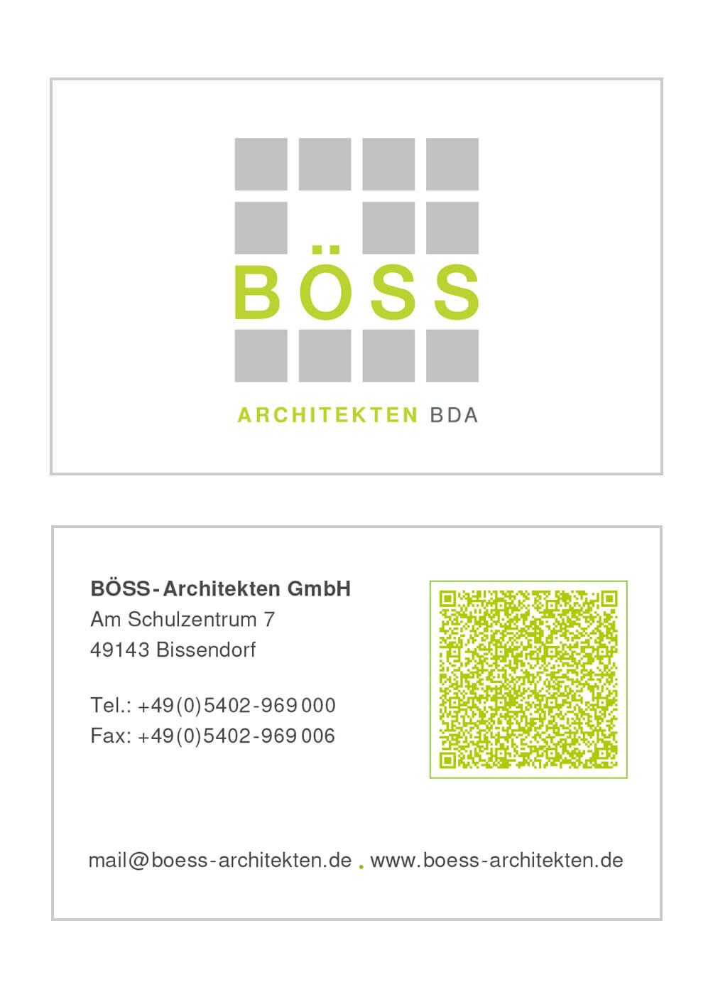 Visitenkarte BÖSS-Architekten GmbH